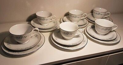 Noritake RC 620 Romaine 6 x cup, saucer, plate (Trio's). Excellent condition.
