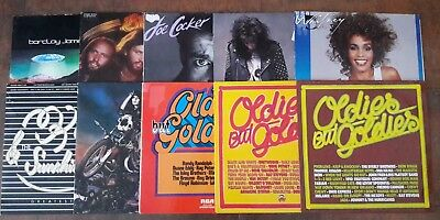 Vinyl Rock Oldies Schallplattensammlung Alice Cooper Oldfield Bee Gees Meat Loaf