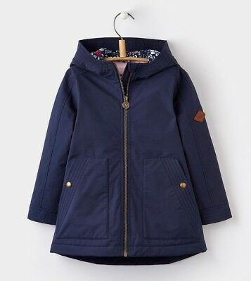 Joules Girls Waterfall Coat- French Navy Age 5