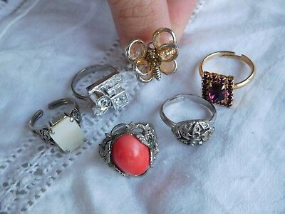 Lovely Collection of Vintage 1950s/60s Costume Dress Rings