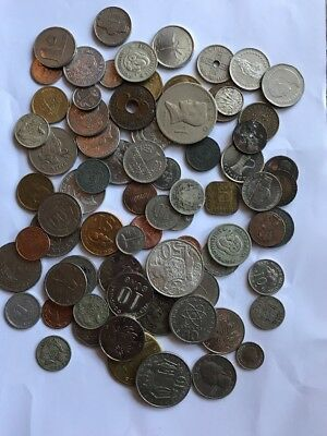 Around The World Coins (Unsorted) Bulk Lot Silver Coins
