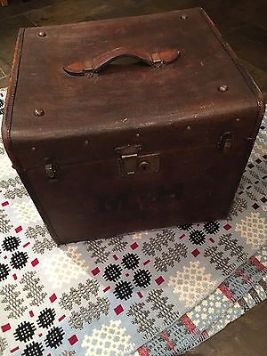 Victorian Chest / Travelling Trunk Leather Handle Coffee Table