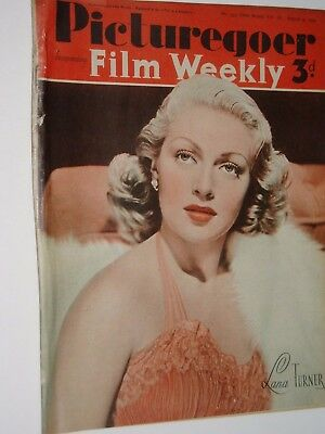 PICTUREGOER & FILM WEEKLY PAPER..(9th August  1941).LANA TURNER  ..FREE POSTAGE