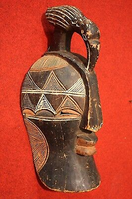 SCULPTURE AFRICAN WOOD PAINTED MASK COLLECTIBLES FIRST '900 (H 58 cm)