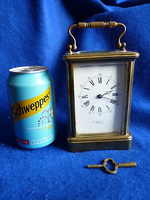 Antique Irish carriage clock - working – R. Wallace Limerick - very rare  PK/32B