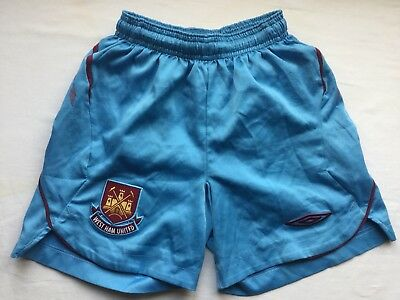 West Ham United FC junior football shorts. Age approx. 6-8 years.
