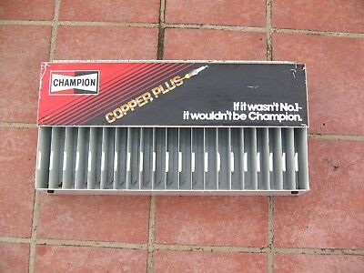 Vintage Champion Spark Plug Wall Cabinet Case Holden Ford Valiant Man Cave Rare