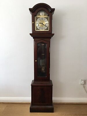 "Granddaughter clock Thomas Byrne - Manufactured 1991 with key & receipt 56"" tall"