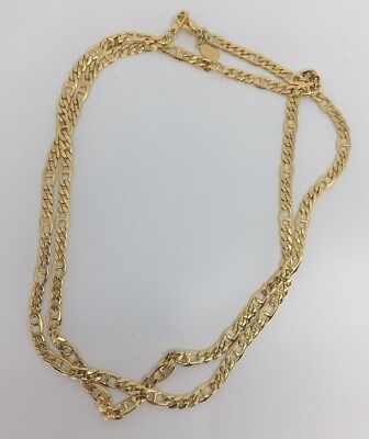 Signed Oroton Long Line Gold Plated Chain Necklace 88cm Mint Condition