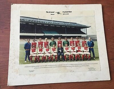 Arsenal FC season 1974-1975 Official Club Issue Photo,Kenneth Prater