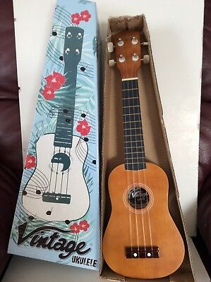 Vintage Ukulele Brown Wood