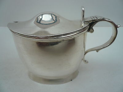 Silver Mustard Pot, Sterling, Antique, English, Condiment, Hallmarked 1794 .