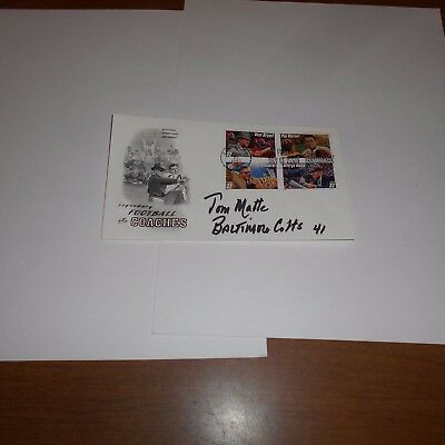 Tom Matte is a former NFL American football player Hand Signed FDC