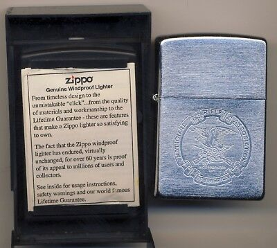National Rifle Association Of America Zippo Lighter New Nra With Case