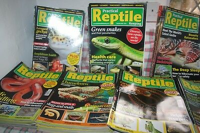 Practical Reptile Keeping JOB LOT OF 76 From 1st issue June 2009 til AUGUST 2015