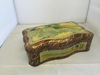 Vintage Art Deco Tin Elegant Ladies  22cm x 14cm x 7.5cm