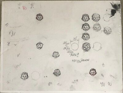 KELLY FREAS Signed MAD Magazine Original Pencil Studies (13) of ALFRED E NEUMAN