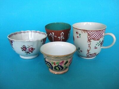 A Small Assortment of Oriental Teabowls and a Chocolate Cup.