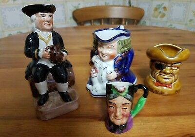 Toby and Character Jugs Staffordshire Job Lot of 4