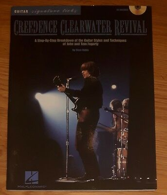 Creedence Clearwater Revival Guitar Signature Licks Song Book Sheet Music + CD
