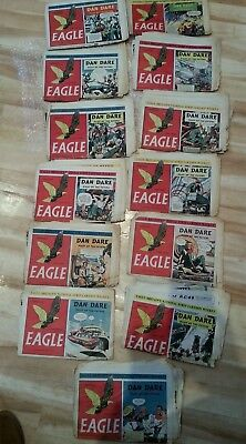 Vintage Various Eagle Comic with Dan Dare copies from 1950, 1951 & 1953