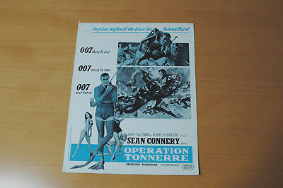 James Bond  007 Sean Connery Thunderball 1965 Rare Synopsis
