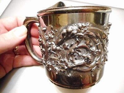 Rare - Antique - Silverplate Reed & Barton Shaving Mug - Very Ornate