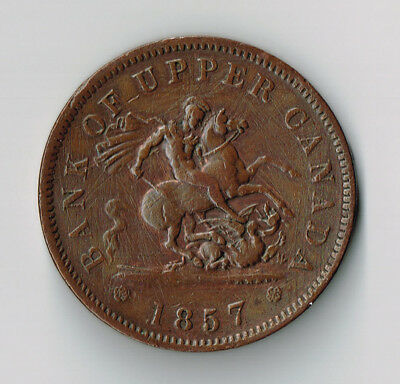 1857 Bank Of Upper Canada One Penny Token - Pc6D