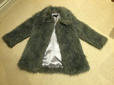 girls fake fur coat (9-10yr old) - signature by next