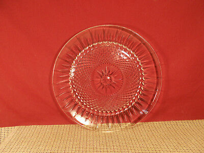 """Cristal d'Arques Crystal Diamant Pattern Dinner Plate 10 1/8"""""""