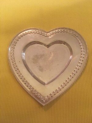 Christian Dior (genuine) Silver Plated Heart t