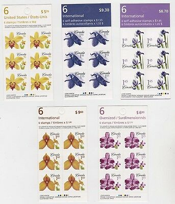 Canada Booklet Stamps - Flowers 5