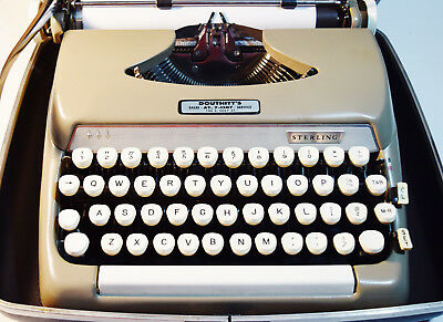 Beige Smith-Corona Sterling Manual Vintage Typewriter - For Prop or Parts