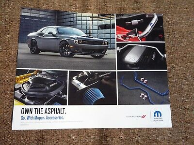 Dodge Challenger 2017 dealer showroom display 8x10- T/A , Scat Pack , R/T, SRT