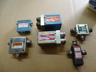 Lot of 6 Microwave RF Radio Switches SMA Type N Coax