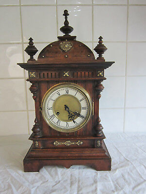 Super large Carved Ornate Chiming Bracket/Mantle Clock –circa 1900 –Junghans