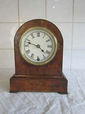 Small Domed Walnut Clock– Circa 1900- Winterhalder & Hofmeier