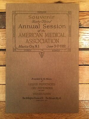 1912 NJ American Medical Association Session Souvenir Booklet Charles Dickens