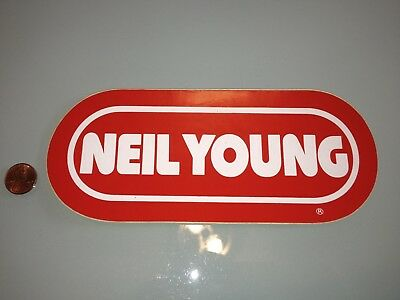 1980's Vintage NEIL YOUNG bumper STICKER Unused RARE Detroit, MI radio WRIF rock