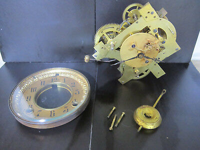 Ansonia Open Brocot Movement Dial and Pendulum for Spares