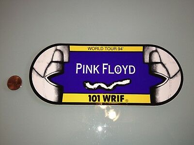 1994 Vintage PINK FLOYD bumper STICKER Unused RARE Detroit, MI radio WRIF rock
