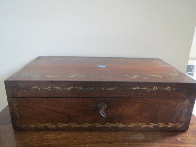 Antique Victorian Large Writing Slope Box
