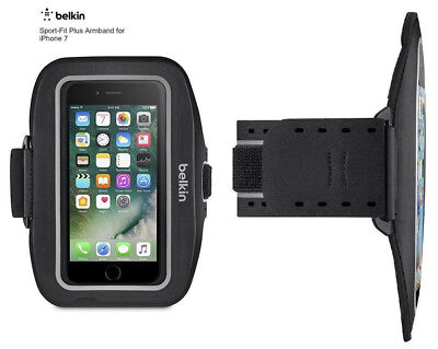 Belkin Sport-Fit Plus Armband for Apple iPhone 7 - Black - Workout Armband