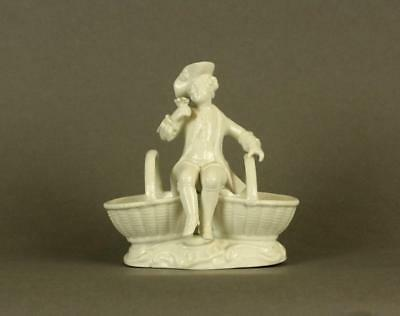 Antique Meissen Dresden Blanc Porcelain Figurine of Young Man