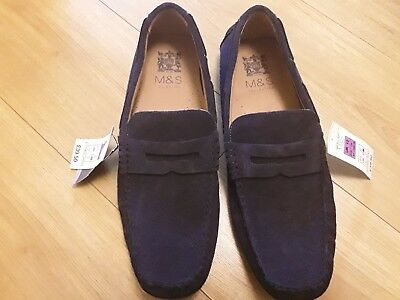 BNWT Gents Marks and Spencer Real Suede Slippers, Size 12