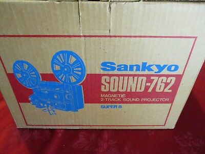 Vintage Sankyo Sound-762 Super 8 8mm Reel to Reel Movie Film Projector (WORKING)