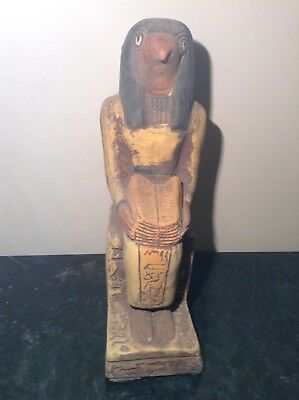 Rare Antique Ancient Egyptian Statue God Horus Read Book Of Dead 1820-1730BC