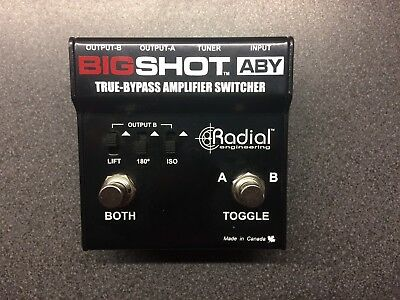 Radial Engineering Big shot ABY Amplifier Amp Guitar Switching Pedal Bigshot