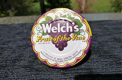 Vintage 1950's Welch's Fruit of the Vine Glass Jelly Jar Grape