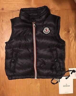 Moncler Baby Navy Down Padded Bodywarmer 6-9 months New With Tags